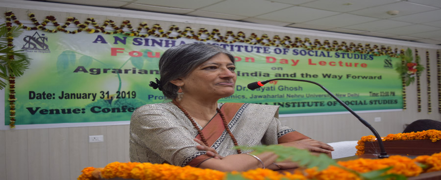 Foundation Day Lecture on ''Agrarian crisis in india and the way forward'' by Dr. Jayati Ghosh